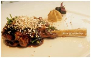 Signature dish: Aam Papad Lamb Chop