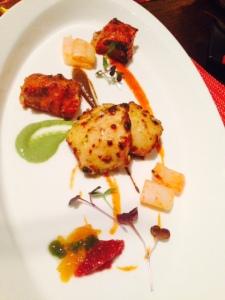 5 Chutney Tandoori Platter - it's half empty coz I ate it before the photo got taken