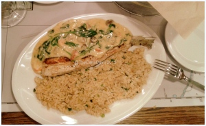 Grilled Red Snapper in Lobster Sauce