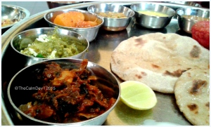 The delicious royal thali at Maharaja Bhog