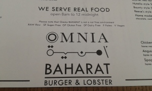 Omnia Baharat's carefully constructed menu
