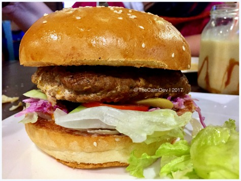 This Juicy Lucy Burger @CafeDelhiHeights
